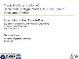 trellis quantization fr1 l09 predictive quantization of dechirped spotlight mode sar raw u2026
