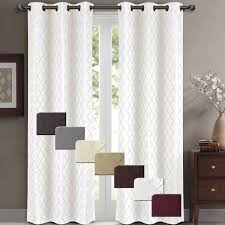 willow pair set of 2 jacquard blackout thermal insulated window