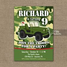 kids military birthday invitation u2013 orderecigsjuice info