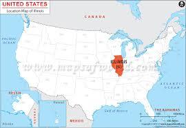 map usa illinois where is illinois location of illinois