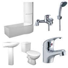 concert rh 1675 x 850 shower bath suite with orion bathroom set