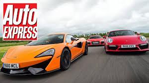 porsche audi mclaren 570s vs audi r8 v10 plus vs porsche 911 turbo s supercar