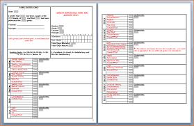 blank report card template 3 high school report card template printable receipt