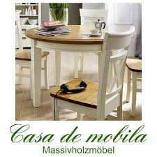 Esszimmer Tisch Vintage Landhaus Esstisch Tisch Rund 120x120 Paris 2 Farbig Champagner
