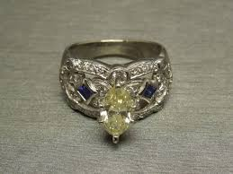 canary engagement ring 2 02tcw fancy marquise cut si2 canary engagement ring