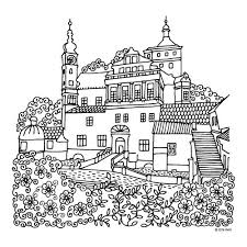 749 colouring buildings houses cityscapes landmarks