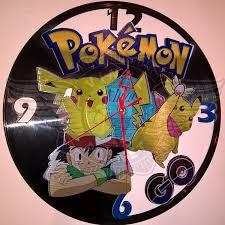 pokemon go vinyl art handmade wall clock horloges uhr reloj de vinilo orologio in vinile price gift perfect the best wholesale unique jpg