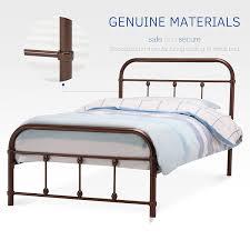 amazon com dfm twin size metal bed frame platform headboard