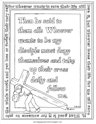 coloring pages for kids by mr adron printable luke 9 23 coloring