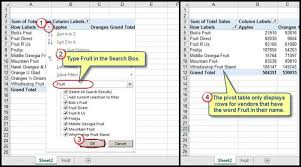 How To Make A Pivot Table In Excel 2010 Filtering Grand Total Amounts Within Excel Pivot Tables