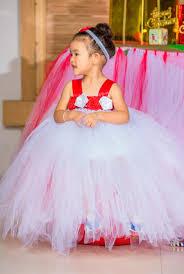 tutu baby dress white wedding princess kids toddler birthday