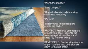 Non Slip Area Rug Pad Rug Pad Usa Rugpro 3x20 Feet Ultra Low Profile Non Slip Area