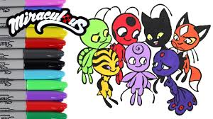 miraculous ladybug coloring book pages season 2 kwami u0027s videos