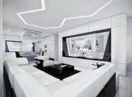 futuristic homes interior minimalist house black white awesome all