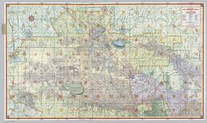 Chicago City Limits Map by Street Map Of San Fernando Valley And Los Angeles Northern Section