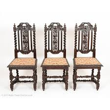 set of six antiquue gothic style solid oak victorian dining chairs