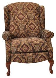 franklin high and low leg recliners sophie traditional styled wing