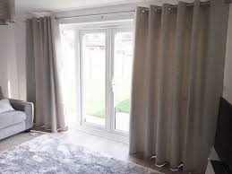dunelm duck egg richmond lined eyelet curtains with 4 x matching