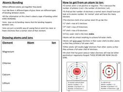 ionic bonding handout and practice by cmacfarlane teaching