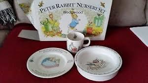 wedgwood rabbit nursery set 4 vintage rabbit nursery set by wedgwood made in
