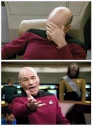 Meme Picard - picard frustrated blank template imgflip