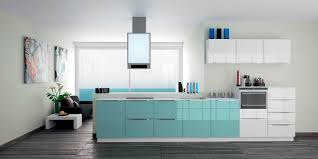 blue gloss kitchen cabinets kitchen decoration