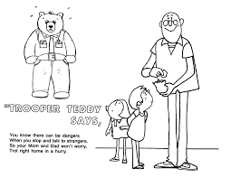 coloring pages for girls stranger safety coloring sheets