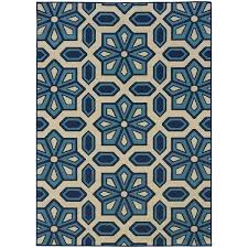 Blue And White Area Rugs Stylehaven Tiles Ivory Blue Indoor Outdoor Area Rug 6 7x9 6 6