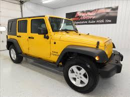 jeep rubicon yellow yellow jeep wrangler in minnesota for sale used cars on