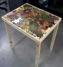 Table Top Ideas Resin Ideas Pressed Leaves And Plants In Resin On Handcrafted