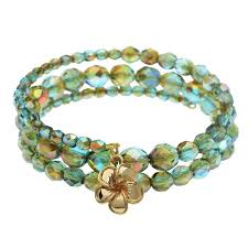 bead wire bracelet images Plumeria memory wire bracelet beadaholique jpg