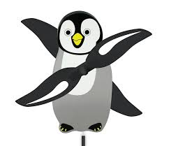 windnsun whirlygig outdoor animated decor penguin