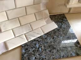 Marble Subway Tile Kitchen Backsplash Blue Pearl Granite Backsplash Ideas Apaan Marble Subway Tile White