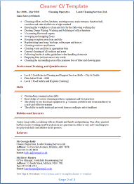 cleaner cv template tips and download u2013 cv plaza