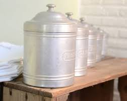vintage french kitchen canisters etsy