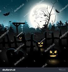 halloween picture background scary graveyard night halloween background stock vector 147000296