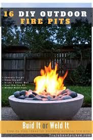 how to make an outdoor firepit build it or weld it 16 warm outdoor stone and metal fire pit ideas
