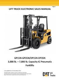 gp15n gp35n ic pneumatic trucks electronic sales manual forklift
