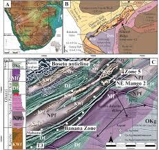 africa map kalahari 1 the kalahari copperbelt in botswana a map of the cenozoic to