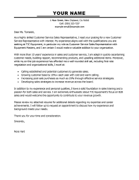 Cover Letter Examples Email Best Customer Service Representatives Cover Letter Examples With