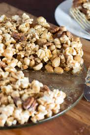 popcorn for halloween peanut pecan popcorn pie queen of my kitchen