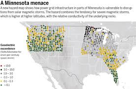 Minnesota Usa Map by Space Storms Could Crash Upper Midwest U0027s Power Grid Science Aaas