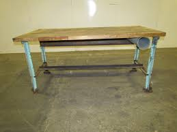 antique industrial workbench pictures to pin on pinterest thepinsta vintage industrial butcher block