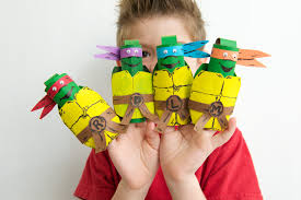 tmnt finger puppets fun family crafts