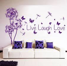 live laugh love art floral wall decals dandelion decal quote live laugh love art