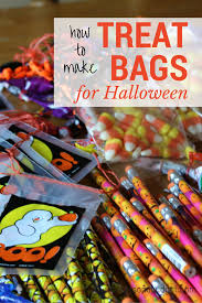 how to make halloween treat bags