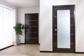 door in an apartment with a light floor