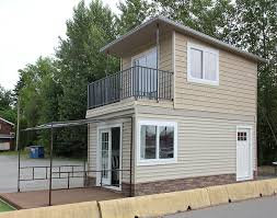 skip the trailer tiny houses built foundations house eagle sideview