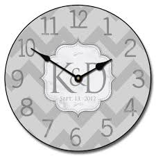 Clock Designs by Personalized Wedding Clock Wedding Gift Clock