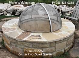 Firepit Screens Custom Stainless Steel Pit Screen Higleywelding Ph 763